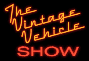 Neon sign that says: The Vintage Vehicle Show